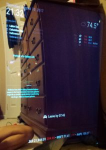 Wall-Mounted Smart Mirror (with PIR Sensor)